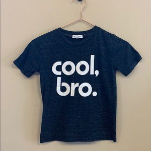 Josh Love Cool Bro heather gray tee sz 6
